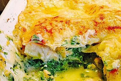 Lachs-Lasagne mit Spinat 23