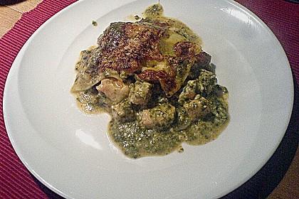 Lachs-Lasagne mit Spinat 82
