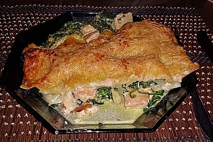 Lachs-Lasagne mit Spinat 18