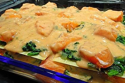 Lachs-Lasagne mit Spinat 9