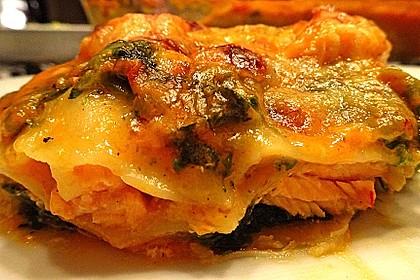 Lachs-Lasagne mit Spinat 13