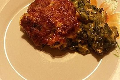 Lachs-Lasagne mit Spinat 96