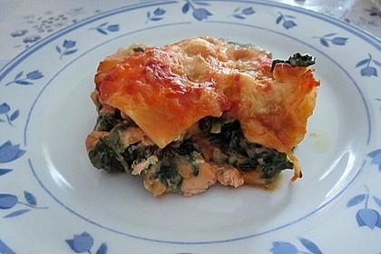 Lachs-Lasagne mit Spinat 11
