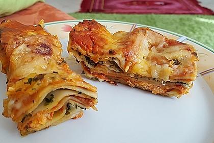 Lachs-Lasagne mit Spinat 4