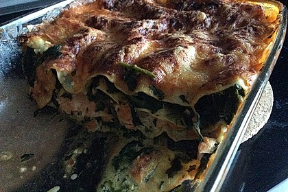 Lachs-Lasagne mit Spinat 65