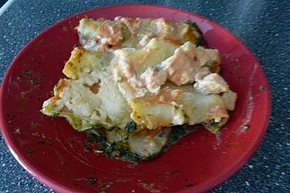 Lachs-Lasagne mit Spinat 81