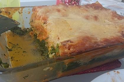 Lachs-Lasagne mit Spinat 50