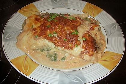 Lachs-Lasagne mit Spinat 46