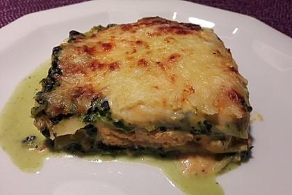 Lachs-Lasagne mit Spinat 26