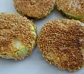 Gebratene Zucchini mit Sesam