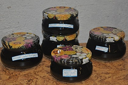Holunder-Apfel-Rum-Gelee