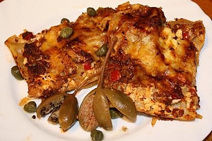 Lasagne mit Kapernbolognese