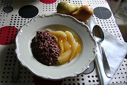 Schoko-Milchreis mit Birnenkompott 2