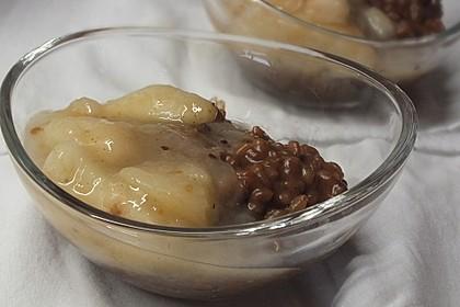 Schoko-Milchreis mit Birnenkompott 1
