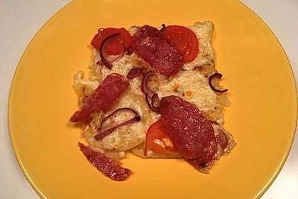 Nymphadoras Kartoffelpizza mit Speck und Crème fraîche 1