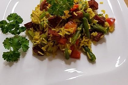 Paella mit Chorizo