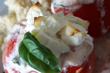 Gefüllte Ricotta-Feta-Tomaten