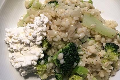 Brokkoli-Kohlrabi-Gersotto