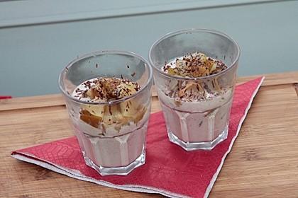Birnen im Schoko-Joghurt 1