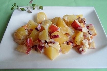 Kartoffel-Apfelauflauf in Käse-Sauce