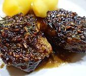 Lammkoteletts mit Granatapfelsauce