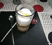 Latte Macchiato mit Orangensirup