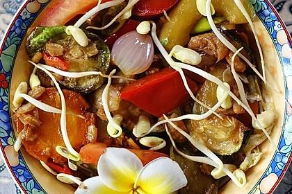 Regenbogen-Salat Szechuan Art