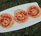 Vegetarische Pizza-Gemüse-Schnecken