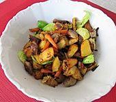 Bratkartoffel-Salat und Nürnberger Würstchen