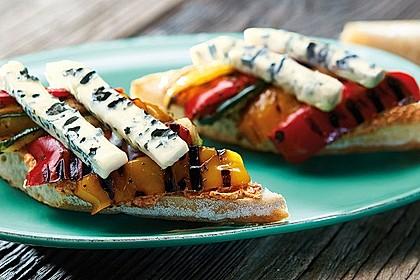 Baguette mit Paprika-Grillgemüse