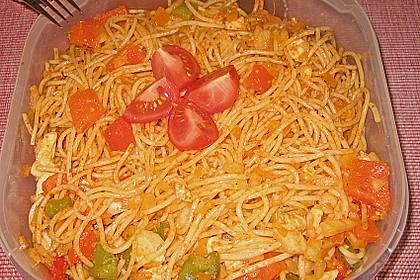 Mediterraner Spaghettisalat mit Pesto rosso 23