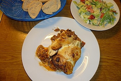 Moussaka mit Schafskäse - Bechamelsauce 11