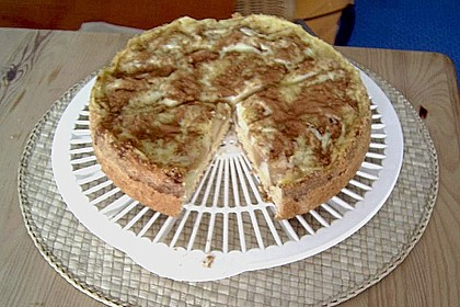 Apfelkuchen mit Pudding 14