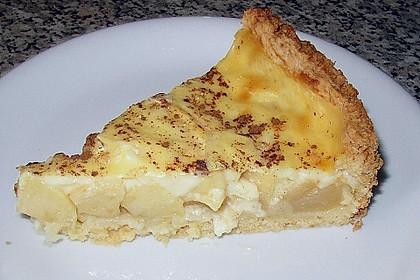 Apfelkuchen mit Pudding 4