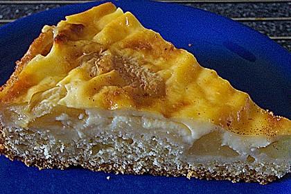 Apfelkuchen mit Pudding 16