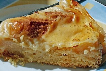 Apfelkuchen mit Pudding 19