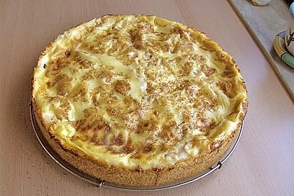 Apfelkuchen mit Pudding 1