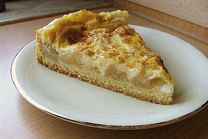 Apfelkuchen mit Pudding 7