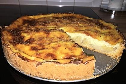 Apfelkuchen mit Pudding 2