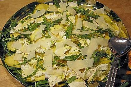 Mozzarella mit Mango und Rucola 2