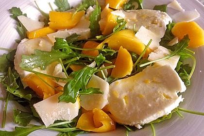 Mozzarella mit Mango und Rucola 3