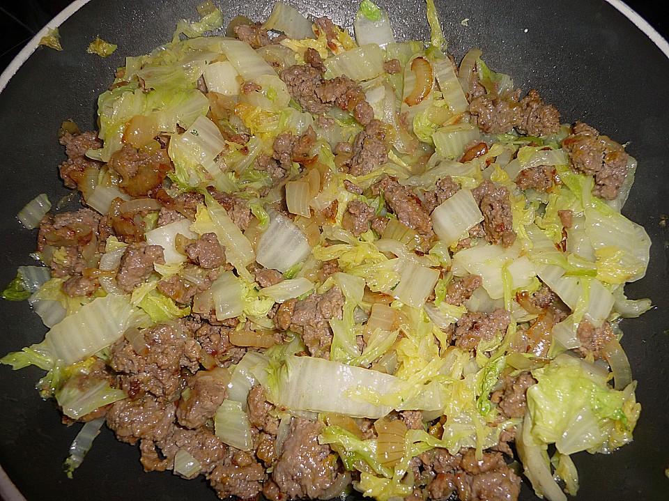 Rezepte chinakohl und hackfleisch