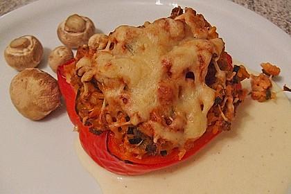 Vegetarisch gefüllte Paprika 4