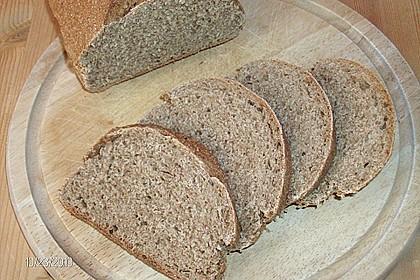 Weizen - Vollkorn - Brot mit Hefe 4