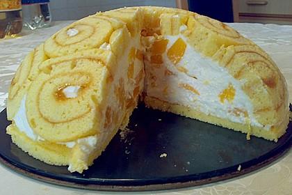 Pfirsich - Charlotte mit Käsesahne 15