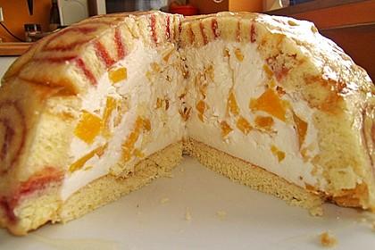 Pfirsich - Charlotte mit Käsesahne 16