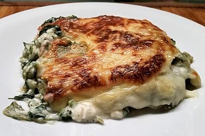 Lasagne mit Spinat und Schafskäse