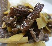 Rindfleisch mit Bambussprossen