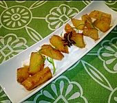 Geröstete Ananas auf Kokosjoghurt