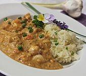 Pesto-Hähnchengeschnetzeltes mit Reis